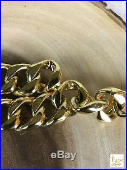 $1125 CHANEL Gold Chain Coco Perfume Bottle Medallion Vintage Belt SALE