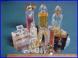 13 Vintage Bottles Perfume Lot Ysatis / Organza / Gucci / Miss Dior & More