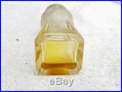 1920s Vintage Rare Baccarat Or R Lalique Floral Design Glass Perfume Bottle