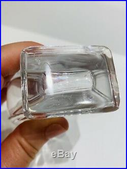 1920s Vtg Cristal de Nancy Guerlain Lyre Perfume Bottle Baccarat Crystal