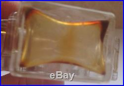 5 Empty Vintage French Perfume Art Glass Bottle Lalique Joy Dior Bellodgia Ricci