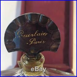 6 oz Shalimar Vintage Perfume Bottle Baccarat Blue Top Drilled Original 1923 L