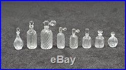 8 bottles set vintage style mini glass perfume handmade for dollhouse miniature