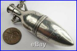 ANTIQUE AMERICAN ART NOUVEAU SILVER AMPHORA SHAPED SCENT BOTTLE by F M WHITING
