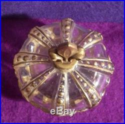 Antique FRENCH ART DECO MARCEL GUERLAIN perfume bottle vtg FIGURAL GILT CROWN