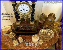 Antique Victorian Grand Tour French Perfume Bottle, 5 Eglomise Views of Paris