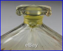 Art Glass Perfume Bottle Flacon Brosse MMA 1986 Frosted glass detail Vintage