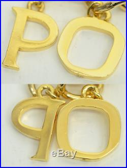 Authentic Dior Vintage Necklace Limited Poison Gold Plated Charm Perfume Bottles