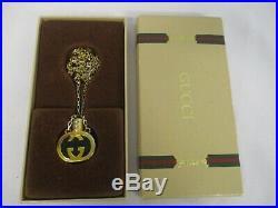 Authentic Vintage Gucci Perfume Bottle Pendant Necklace Mint In Box