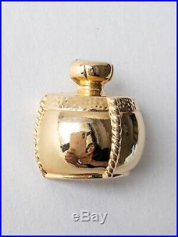 Authentic Ysl Yves Saint Laurent Perfume Bottle Brooch Pin Vintage