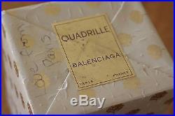 Balenciaga QUADRILLE 2oz FRANCE Perfume Vintage PARFUM SEALED Bottle NEW 4204