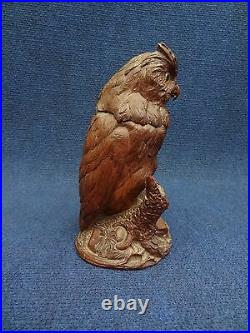 Black Forest Humidor Owl fitted with perfume bottle, small humidor, Antique