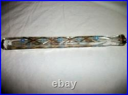 C. 1790 French Crystal Perfume Scent Bottle Lay Down Flask Cut Gilt HP Moriage
