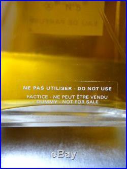 CHANEL Factice No5 Vintage 1990s EDP Splash Dummy Bottle 100ml & Near Immaculate