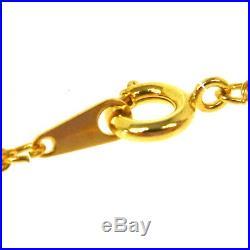 CHANEL Vintage CC Logos Gold Chain Perfume Pendant Necklace Authentic AK35585j