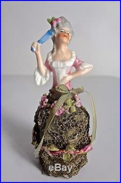 Collection Of 5 Vintage German OOAK Miniature Half Doll Perfume Bottles