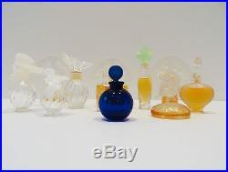 Collection of Eleven Vintage Lalique Perfume Bottles