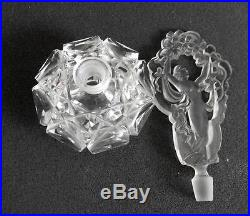 Czech vintage crystal perfume bottle with ornate stopper FREE SHIPPING