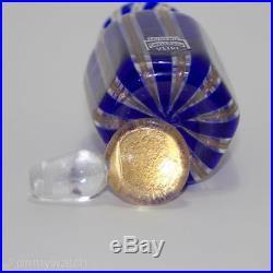 EXCEPTIONAL Vtg MURANO 6-Sided CENEDESE Perfume Bottle ArT GLaSs Italy GOLD