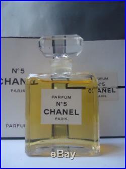 FACTICE CHANEL No5 28ml Parfum Vintage 1970s Beyond Rare 8cm Bottle + Both Boxes