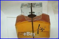 Factice Perfume Bottle Vintage Fidji Guy Laroche Parfum Paris 32 Oz Glass Sealed