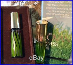 GRASS OIL by JOVAN (2) BOTTLES OF 10 ML EACH RARE VINTAGE JOVAN SET