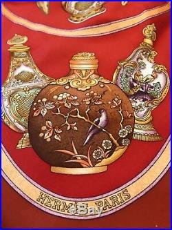 Genuine Vintage Hermes Scarf Antique Perfume Bottle Pattern