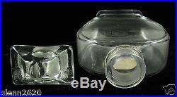 Guerlain Baccarat Paris Travers Champs Perfume Bottle Box Crystal Glass Vintage