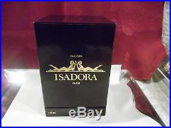 ISADORA PERFUME BOTTLE Paris1979 GLASS NUDE FIGURAL 1 ounce with BOX RARE VTG