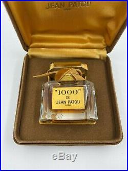 Jean patou 1000 parfum 15 ml 1/2 FL OZ VINTAGE bottle sealed