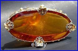 Jewelry Glass Perfume Bottle Atomizer Antique Vintage Czech Josef Schmidt