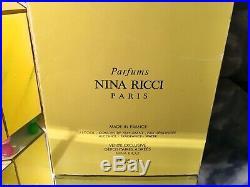 L'AIR DU TEMPS by NINA RICCI 2 BOTTLES VINTAGE 1/2 FL OZ EXTRAIT LALIQUE