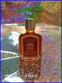L'occitane Vintage Ambre Amber Perfume Extract Extrait Mini Bottle. 16 Oz Rare