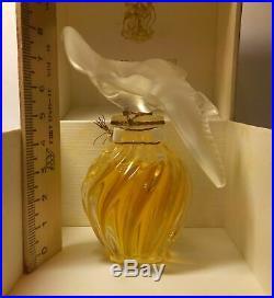 LALIQUE BOTTLE! L'Air du Temps Nina Ricci PURE parfum 1 fl. Oz VINTAGE corded