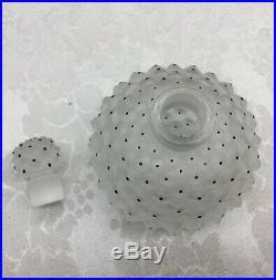 Lalique Cactus Frosted Glass Perfume Bottle Decanter France Vintage