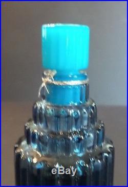 Large Vintage Lalique Skyscraper Perfume Bottle, J E Reviens For Worth, Paris