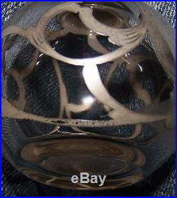 Lot 2 vintage antique Sterling silver Scroll Filigree glass Perfume Bottle Set