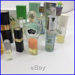 Lot Of 21 Bottles of Perfume Vintage Hermes Carven Chanel No 5, 22, Dior more