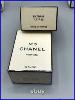Lot of 6 vintage CHANEL No 5 box-bottle Perfume eau de toilet & extrait TTPM