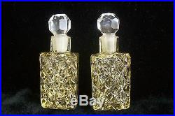 MATCHING PAIRVintage Czech Bookend Perfume BottlesSignedRAREFree Shipping