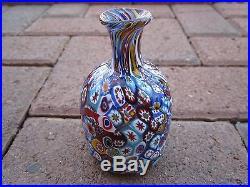 Murano Art Glass'Close Millefiore' Perfume Scent Bottle Vtg. Italian Hand Blown