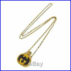 OLD GUCCI GG INTERLOCKING VINTAGE CHAIN NECKLACE GOLD Perfume Bottle 30.7inch