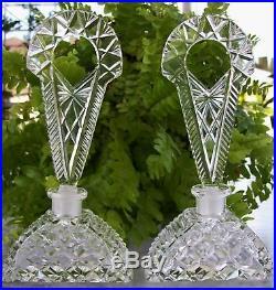 PAIR Vintage Czech Perfume BottlesSignedDaubers IntactRARE5.75 Gorgeous