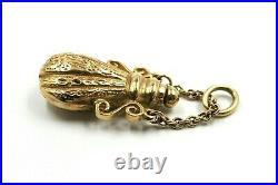 Perfume Bottle 9ct Yellow Gold Pendant Necklace Women's Fine Vintage Jewellery