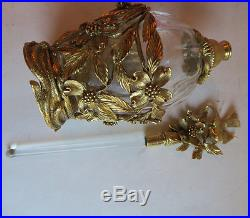 Perfume Bottle Matson dogwood Vintage Vanity Gilt glass Bird Ormolu dubber old