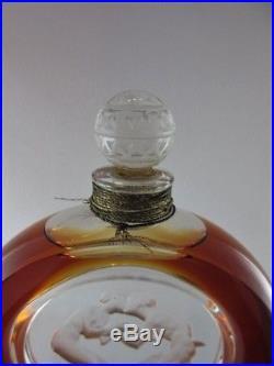R. Lalique Figural Vintage Perfume Bottle Molinard Book Piece