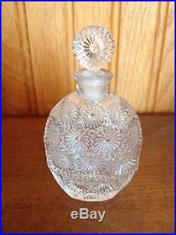 R Lalique Perfume Bottle Rare Worth Lilas Bottle Stopper Vintage 1937 Roses