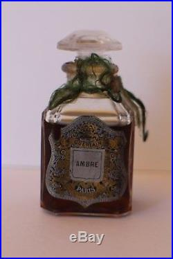 RARE GUERLAIN AMBRE VINTAGE PERFUME BOTTLE SMALL SIZE 6.9 cm original perfume