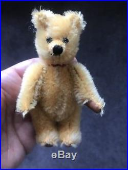 RARE MINIATURE 4 VINTAGE SCHUCO MOHAIR PERFUME BOTTLE BEAR New In box
