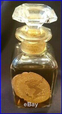 RARE VINTAGE Perfume Bottle of FRIMOUSSE D'Or by LORENZY Palanca Paris 50ml